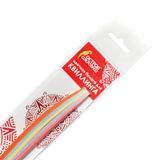 Бумага для квиллинга &quot;Базовые цвета&quot;, 5 цветов, 100 полос, 3 мм х 300 мм, 80 г/м<sup>2</sup>, ОСТРОВ СОКРОВИЩ, 128745