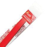 Бумага для квиллинга красная, 125 полос, 3 мм х 300 мм, 130 г/м<sup>2</sup>, ОСТРОВ СОКРОВИЩ, 128758