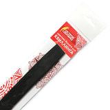 Бумага для квиллинга черная, 125 полос, 5х300 мм, 130 г/м<sup>2</sup>, ОСТРОВ СОКРОВИЩ, 128775