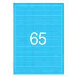 Этикетка самоклеящаяся 38х21,2 мм, 65 этикеток, неоново-голубая, 65 г/м<sup>2</sup>, 50 л., STAFF, 128847
