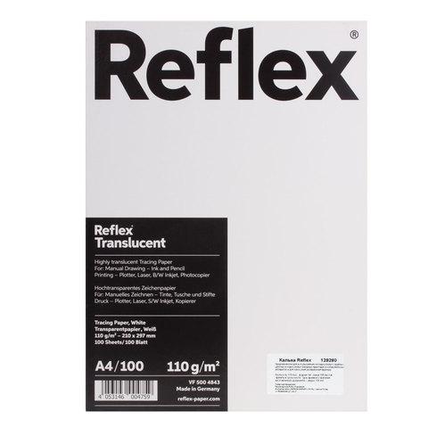 Калька REFLEX А4, 110 г/м, 100 листов, Германия, белая, R17120