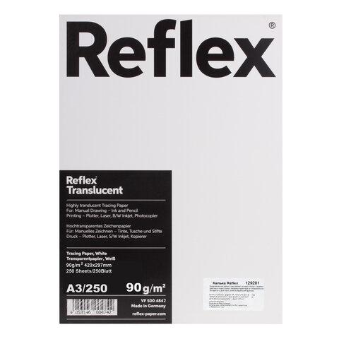 Калька REFLEX А3, 90 г/м, 250 листов, Германия, белая, R17310