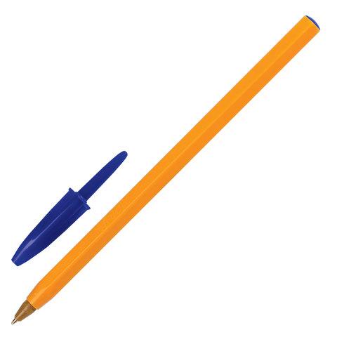 """Ручка шариковая BIC """"Orange"""", корпус оранжевый, узел 0,8 мм, линия письма 0,3 мм, синяя, 8099221"""