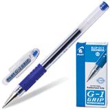 """Ручка гелевая PILOT """"G-1 Grip"""", корпус прозрачный, узел 0,5 мм, линия 0,3 мм, резиновый упор, синяя, BLGP-G1-5"""