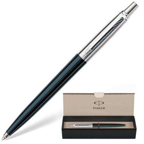Ручка шариковая PARKER Jotter Special Black, нержавеющая сталь/ пластик, корпус черный, хромированные детали, S0705660, синяя