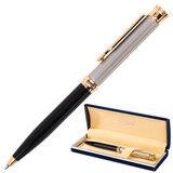 """Ручка подарочная шариковая GALANT """"Antic"""", корпус черный с серебристым, золотистые детали, пишущий узел 0,7 мм, синяя, 140388"""