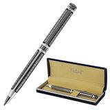 """Ручка подарочная шариковая GALANT """"Olympic Silver"""", корпус серебристый с черным, хромированные детали, пишущий узел 0,7 мм, синяя, 140613"""
