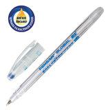 """Ручка шариковая масляная PENSAN """"Global-21"""", СИНЯЯ, корпус прозрачный, узел 0,5 мм, линия письма 0,3 мм, 2221"""