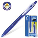 """Ручка шариковая масляная автоматическая PILOT """"Rex Grip"""", узел 0,7 мм, линия 0,32 мм, резиновый упор, синяя, BPRG-10R-F"""