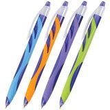 """Ручка шариковая автоматическая BRAUBERG """"Tigra"""", корпус ассорти, узел 0,7 мм, линия 0,35 мм, синяя, 141173"""