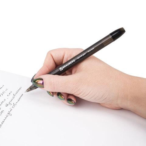 Ручка гелевая с грипом BRAUBERG