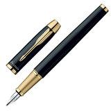 """Ручка перьевая PARKER """"IM Black GT"""", корпус черный, латунь, позолоченные детали, S0856190, черная"""