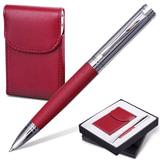 """Набор GALANT """"Prestige Collection"""": ручка, визитница, бордовый, подарочная коробка, 141373"""