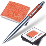 "Набор GALANT ""Prestige Collection"": ручка, визитница, коричневый, ""кожа крокодила"", подар.кор., 141378"