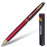 """Ручка бизнес-класса шариковая BRAUBERG """"De Luxe Red"""", корпус бордовый, золотистые детали, 1 мм, синяя, 141413"""