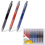"""Ручка бизнес-класса шариковая BRAUBERG """"Aura"""", корпус ассорти, серебристые детали, 1 мм, синяя, 141423"""