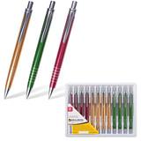 """Ручка бизнес-класса шариковая BRAUBERG """"Quantum"""", корпус ассорти, серебристые детали, 1 мм, синяя, 141429"""