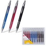 """Ручка бизнес-класса шариковая BRAUBERG """"Frost"""", корпус ассорти, серебристые детали, 1 мм, синяя, 141430"""