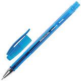 """Ручка гелевая BRAUBERG """"Income"""", СИНЯЯ, корпус тонированный, игольчатый узел 0,5 мм, линия письма 0,35 мм, 141516"""