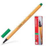 """Ручка капиллярная STABILO """"Point"""", корпус оранжевый, толщина письма 0,4 мм, зеленая, 88/36"""