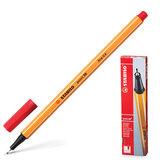 """Ручка капиллярная STABILO """"Point"""", корпус оранжевый, толщина письма 0,4 мм, красная, 88/40"""