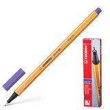 """Ручка капиллярная STABILO """"Point"""", корпус оранжевый, толщина письма 0,4 мм, фиолетовая, 88/55"""