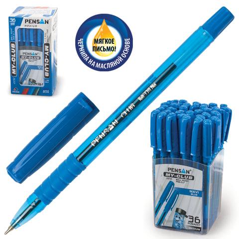 """Ручка шариковая масляная PENSAN """"MY CLUB"""", корпус тонированный, толщина письма 0,7 мм, синяя, 2232"""