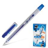 """Ручка гелевая PENSAN """"MY-KING"""", корпус прозрачный, толщина письма 0,5 мм, синяя, 2227"""