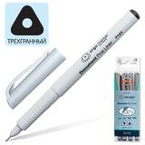 Ручки капиллярные KOH-I-NOOR, набор 4 шт., трехгранные, 0,25/0,5/0,75/1 мм, черные, 777141JD01PK