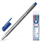 """Ручки капиллярные STAEDTLER (ШТЕДЛЕР, Германия), набор 4 цв.,""""Triplus"""", трехгранные, 0,3 мм, цвета стандартные, ассорти, 334 SB4"""