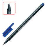 """Ручка-роллер STAEDTLER (Германия) """"Triplus Roller"""", трехгранная, узел 0,7 мм, линия 0,4 мм, синяя, 403-3"""