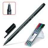 """Ручки-роллер STAEDTLER, набор 4 шт., """"Triplus Roller"""", трехгранная, 0,7 мм, линия 0,4 мм, ассорти, 403 SB4"""