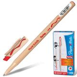 """Ручка стираемая шариковая PAPER MATE """"Replay"""", корпус бежевый, узел 1,2 мм, линия 1 мм, красная, S0190803"""