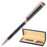 """Ручка подарочная шариковая GALANT """"Vitznau"""", корпус серый, золотистые детали, пишущий узел 0,7 мм, синяя, 141664"""