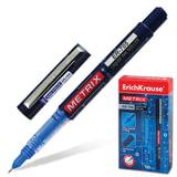 """Ручка-роллер ERICH KRAUSE """"Metrix ER-705"""", корпус синий, игольчатый узел 0,6 мм, линия 0,45 мм, синяя, 35086"""