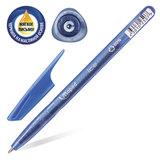 """Ручка шариковая масляная MAPED (Франция) """"Green Ice"""", корпус тонированный, узел 1 мм, линия 0,6 мм, синяя, 224430"""