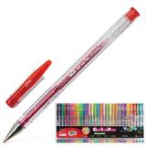 """Ручки гелевые BEIFA (Бэйфа), набор 30 шт., """"WMZ"""", корпус прозрачный, 0,7 мм, европодвес, цвет ассорти, GA1030-30"""