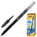 """Ручка гелевая BIC """"Cristal Gel+"""", корпус тонированный черный, узел 0,5 мм, линия 0,27 мм, черная, 905490"""