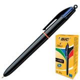"""Ручка шариковая автоматическая BIC """"4 Colours Pro"""", 4-цветная, узел 1 мм, линия 0,32 мм, синий, черный, красный, зеленый, 902129"""