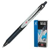 """Ручка-роллер PILOT автоматическая BLRT-VB5 """"VBall"""", корпус черно-серый, толщина письма 0,25 мм, черная"""