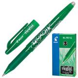 """Ручка стираемая гелевая PILOT """"Frixion"""", корпус зеленый, узел 0,7 мм, линия 0,35 мм, зеленая, BL-FR-7"""