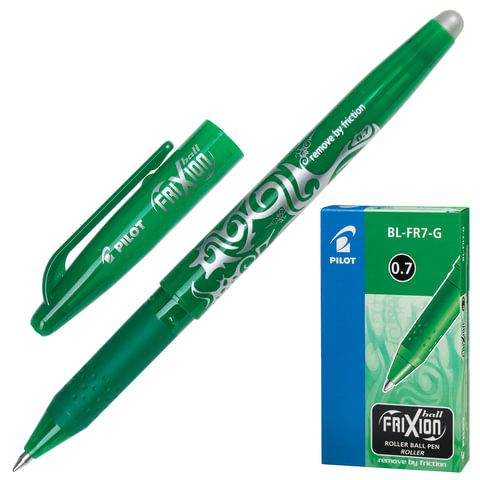 """Ручка """"Пиши-стирай"""" гелевая PILOT BL-FR-7 """"Frixion"""", толщина письма 0,35 мм, зеленая"""