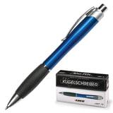 Ручка шариковая автоматическая LACO (ЛАКО, Германия), корпус синий, узел 1 мм, линия 1 мм, резиновый упор, синяя, JBP 12
