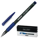 Ручка гелевая с грипом LACO (ЛАКО, Германия), СИНЯЯ, корпус тонированный черный, узел 1 мм, линия письма 0,5 мм, GP 12