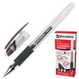 """Ручка """"Пиши-стирай"""" гелевая BRAUBERG """"Number 1"""", толщина письма 0,5 мм, резиновый держатель, черная, 141881"""