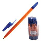 """Ручка шариковая СТАММ """"511"""", корпус оранжевый, узел 1,2 мм, линия письма 1 мм, синяя, РК11"""