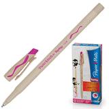 """Ручка стираемая шариковая PAPER MATE """"Replay"""", корпус бежевый, узел 1,2 мм, линия 1 мм, розовая, S0851441"""