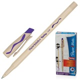 "Ручка ""Пиши-стирай"" шариковая PAPER MATE ""Replay"", корпус бежевый, 1 мм, фиолетовая, S0851431"