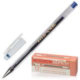 """Ручка гелевая СОЮЗ """"Oskar"""", корпус прозрачный, толщина письма 0,7 мм, синяя, РГ 155-01"""