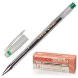 """Ручка гелевая СОЮЗ """"Oskar"""", корпус прозрачный, толщина письма 0,7 мм, зеленая, РГ 155-04"""